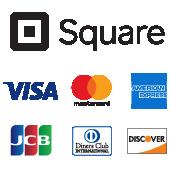 Visa Master AMEX Squareでクレジット―カード決済